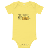 See People, Not Labels (Baby Onesie Light Colors)