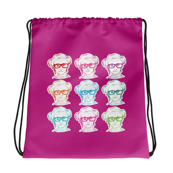 drawstring bag 9 Different Colored Faces of Sammi Haney Esperanza Netflix Raising Dion fan sassy wheelchair pink glasses disability osteogenesis imperfecta OI
