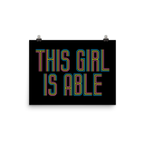 This Girl is Able (Poster)