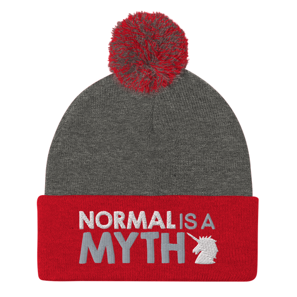 pom pom beanie normal is a myth unicorn peer pressure popularity disability special needs awareness inclusivity acceptance activism
