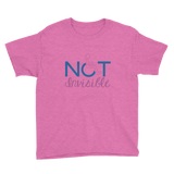 Not Invisible (Youth Light Color Shirts for Girls)