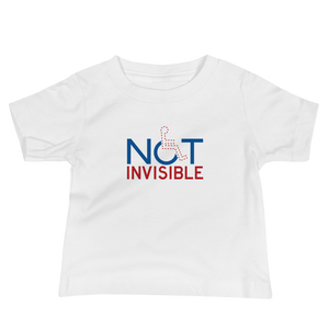 baby Shirt not invisible disabled disability special needs visible awareness diversity wheelchair inclusion inclusivity impaired acceptance