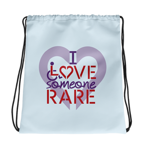 drawstring bag I Love Someone with a Rare Condition medical disability disabilities awareness inclusion inclusivity diversity genetic disorder