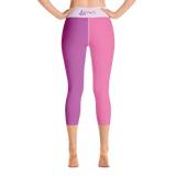 Love (for the Special Needs Community) 2 Color Yoga Capri Leggings