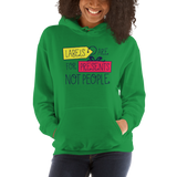 Labels are for Presents Not People (Hoodie Light Colors)