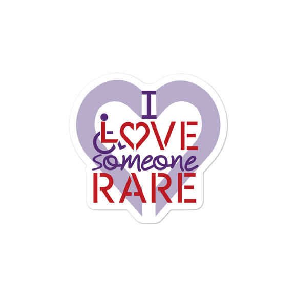 sticker I Love Someone with a Rare Condition medical disability disabilities awareness inclusion inclusivity diversity genetic disorder