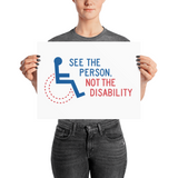 See the Person, Not the Disability (Poster)