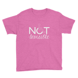 Not Invisible (Youth Dark Color Shirts for Girls)