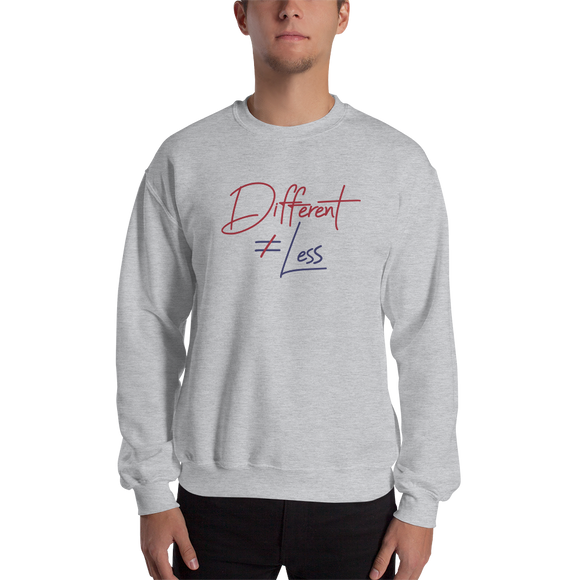 sweatshirt Different Does Not Equal Less Netflix Raising Dion Esperanza Sammi Haney #DDNEL disability inclusion wheelchair awareness