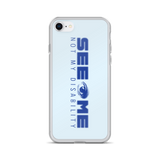See Me Not My Disability (Halftone) Blue iPhone Case
