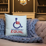 Different but Equal (Disability Equality Logo) Pillow