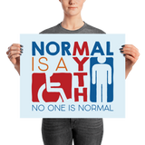 Normal is a Myth (Sign Icons) Poster