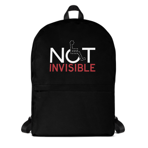 school backpack not invisible disabled disability special needs visible awareness diversity wheelchair inclusion inclusivity impaired acceptance