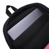 I Love Pink (Esperanza - Raising Dion) Pink on Navy Backpack