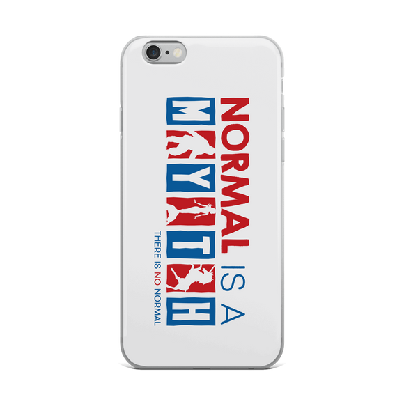 iPhone case normal is a myth big foot mermaid unicorn peer pressure popularity disability special needs awareness inclusivity acceptance activism