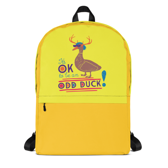 school backpack It's OK to be an odd duck Raising Dion Esperanza fan Netflix Sammi Haney different bird