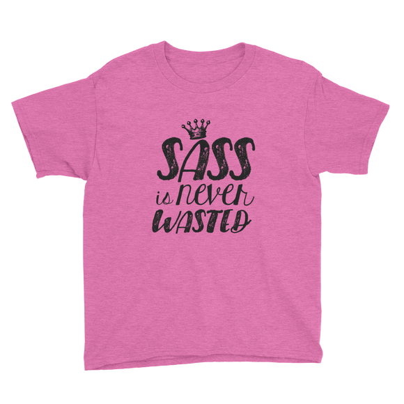 youth Shirt sass is never wasted sassy Raising Dion Esperanza fan Netflix Sammi Haney girl wheelchair pink glasses disability osteogenesis imperfecta