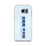 See Me Not My Disability (Halftone) Blue Samsung Case