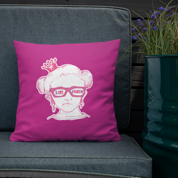 pillow Sass Queen Fan Sammi Haney Esperanza Netflix Raising Dion sassy wheelchair pink glasses disability osteogenesis imperfecta
