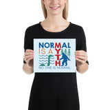 poster normal is a myth big foot loch ness lochness yeti sasquatch disability special needs awareness inclusivity acceptance activism
