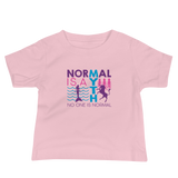 baby shirt normal is a myth mermaid unicorn peer pressure popularity disability special needs awareness inclusivity acceptance