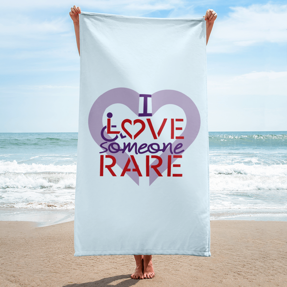 beach towel I Love Someone with a Rare Condition medical disability disabilities awareness inclusion inclusivity diversity genetic disorder