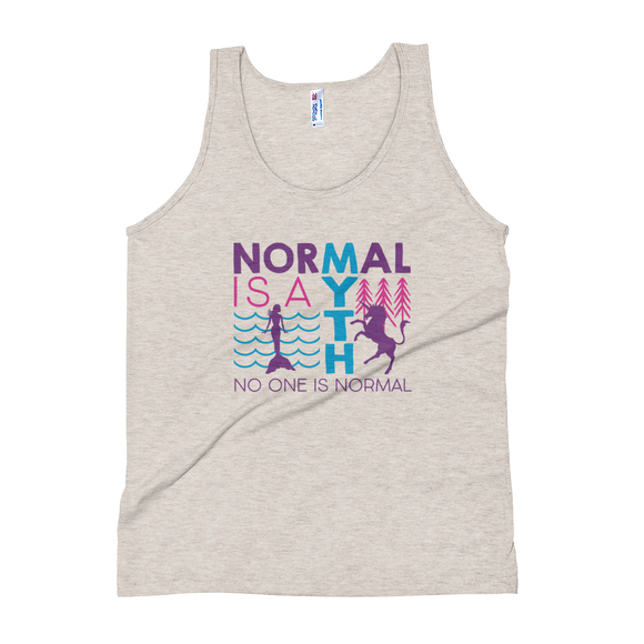 tank top normal is a myth mermaid unicorn peer pressure popularity disability special needs awareness inclusivity acceptance
