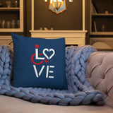LOVE (for the Special Needs Community) Pillow Stacked Design 1 of 3