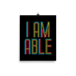 poster I am Able abled ability abilities differently abled differently-abled able-bodied disabilities people disability disabled wheelchair