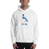 See Me (Not My Disability) Hoodie White/Grey Unisex
