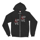 Love (for the Speical Needs Community) Zip-Up Hoodie Sweater (Fits Small)