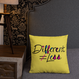 Different Does Not Equal Less (As Seen on Netflix's Raising Dion) 18x18 or 20x12 Pillow