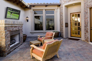 Outdoor TV cabinet in your patio