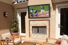 Load image into Gallery viewer, Outdoor TV cabinet above your outdoor fireplace