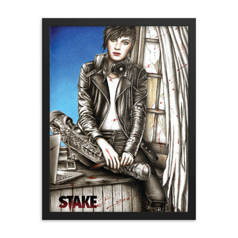 Stake #1 - Angel by Tiffany Groves - Framed poster