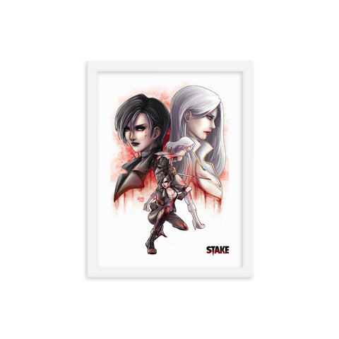 Stake #1 - Angel and Jessamy by Anna Zhuo - Framed poster