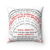 Accent Pillow- Custom Typography Lyrics - BeTheLightCo