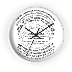 Clock-Custom Quote Words - BeTheLightCo