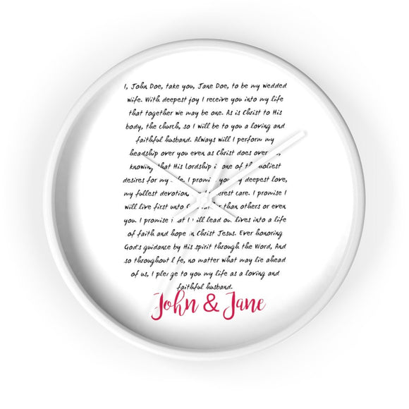 Clock- Wedding Vows - BeTheLightCo