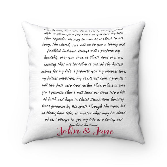 Accent Pillow-Wedding Vow Gift - BeTheLightCo