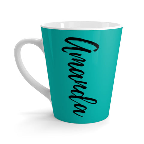 Teal Coffee Mug, Name on Mug, Teal Latte Mug, Teal Coffee Cup, Teal Gift Idea, Personalized Teal Mug,Teal Gift,Mug with Name,Cute Coffee Mug