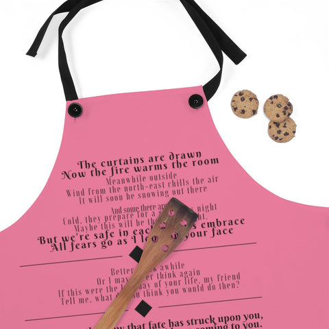 Song Lyric Apron, Custom Lyric Gift, Unique Apron, Unique Custom Gift, Gift with Songs, Favorite Song Gift, Custom Music Gift, Custom Apron