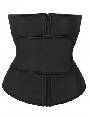 Waist Trainer With Zipper And Straps For Women Body Shaper