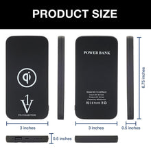 Load image into Gallery viewer, Qi Wireless Charging Power Bank - 8,000mAh