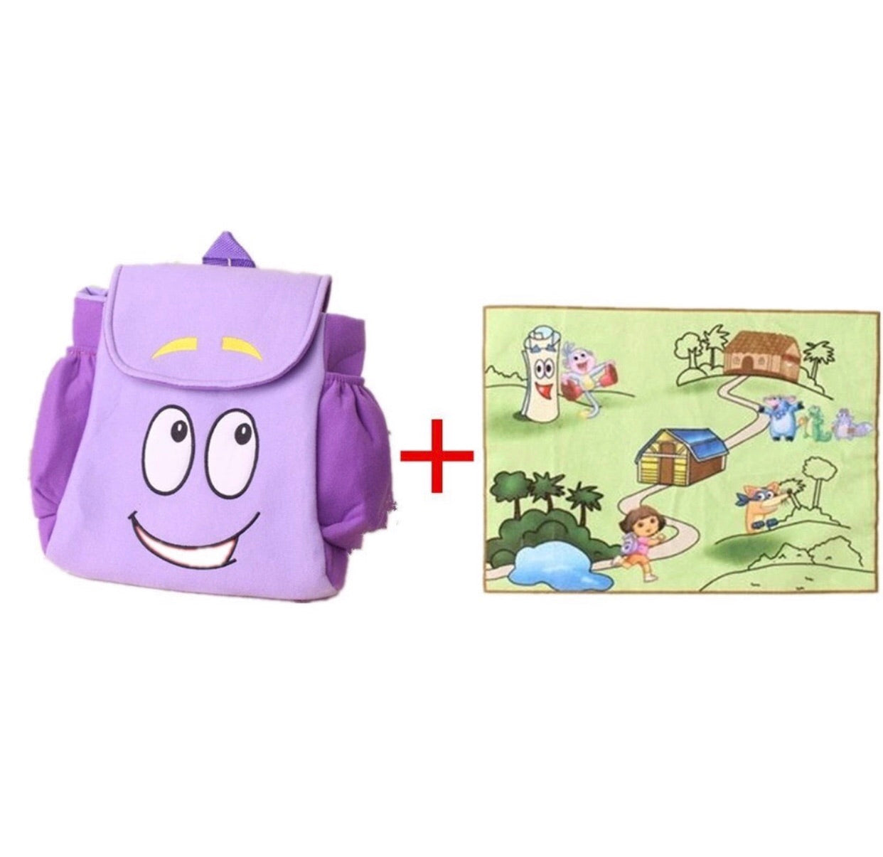 Dora's Backpack with map – O' So Chic on dora backpack and map, dora boots backpack map, dora party, dora backpack toy map,