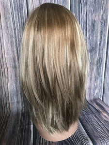 "18"" Dahlia Full Wig Precut Wig Layered in Medium"