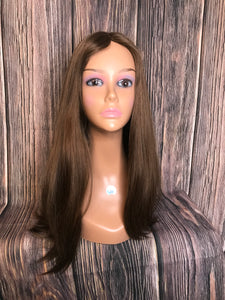 "22"" Dahlia Full Wig Precut Wig Layered in Large"