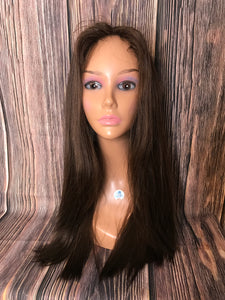 "25"" Dahlia Full Wig Precut Wig Layered in Medium"
