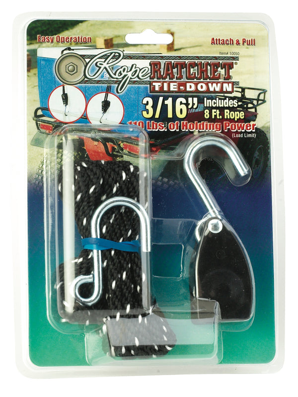 "3/16"" Rope Ratchet - 8' Rope"
