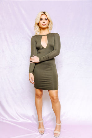 Olive you backless dress